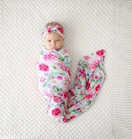 Posh Peanut Alice Infant Swaddle & Headwrap Set