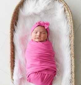 Posh Peanut Very Berry Solid Infant Swaddle & Headwrap Set