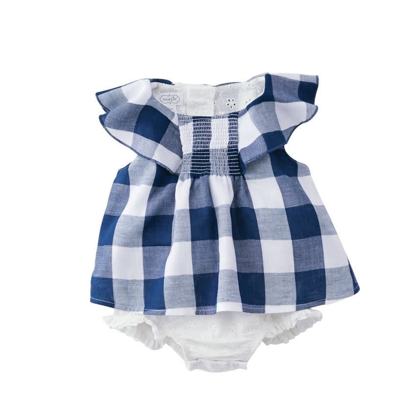Mud Pie Gingham Overlay Crawler