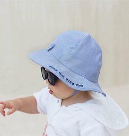 Mud Pie Blue Sun Hat & Sunglasses Set 6/18M