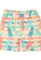 Ruffle Butts/Rugged Butts Playful Pineapple Swim Trunks