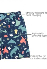 Ruffle Butts/Rugged Butts Under the Sea Swim Trunks