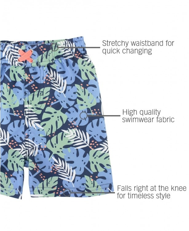 Ruffle Butts/Rugged Butts Paradise Palms Swim Trunks