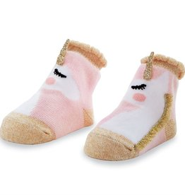 Mud Pie Gold Unicorn Sock