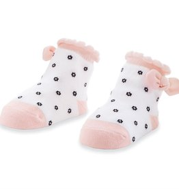 Mud Pie Black Flower Dot Socks