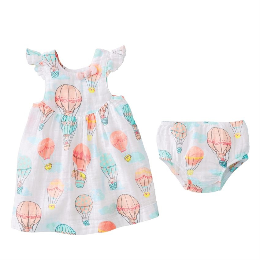 Mud Pie Balloon Muslin Dress