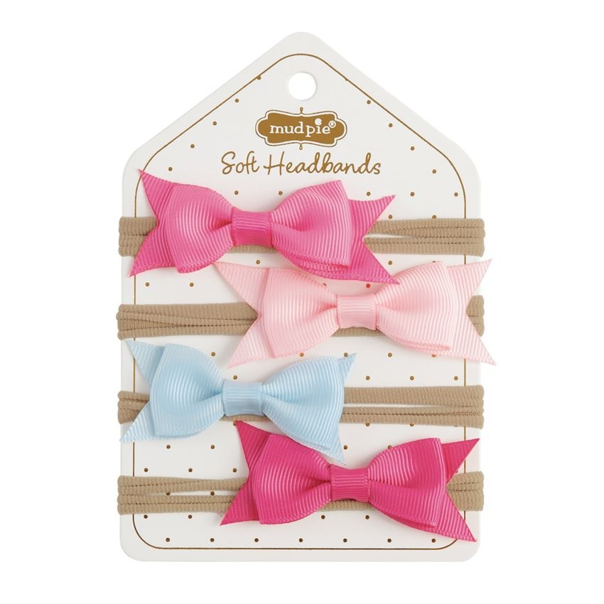 Mud Pie Grosgrain Bow Soft Headbands