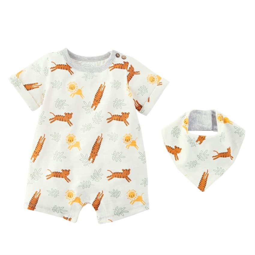 Mud Pie Lions and Tigers Shortall