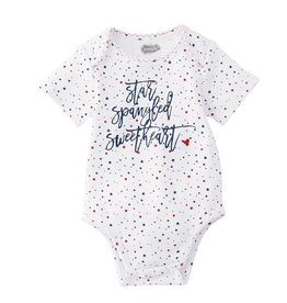 Mud Pie Star Spangled Crawler (Onesie), 0/6M