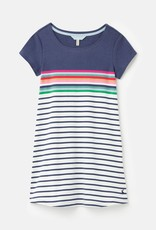 Joules Riviera Dress Blue Border Stripe