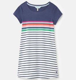 Joules Riviera Dress Blue Border Stripe