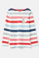 Joules Harbour Luxe Shirt White Multi Heart