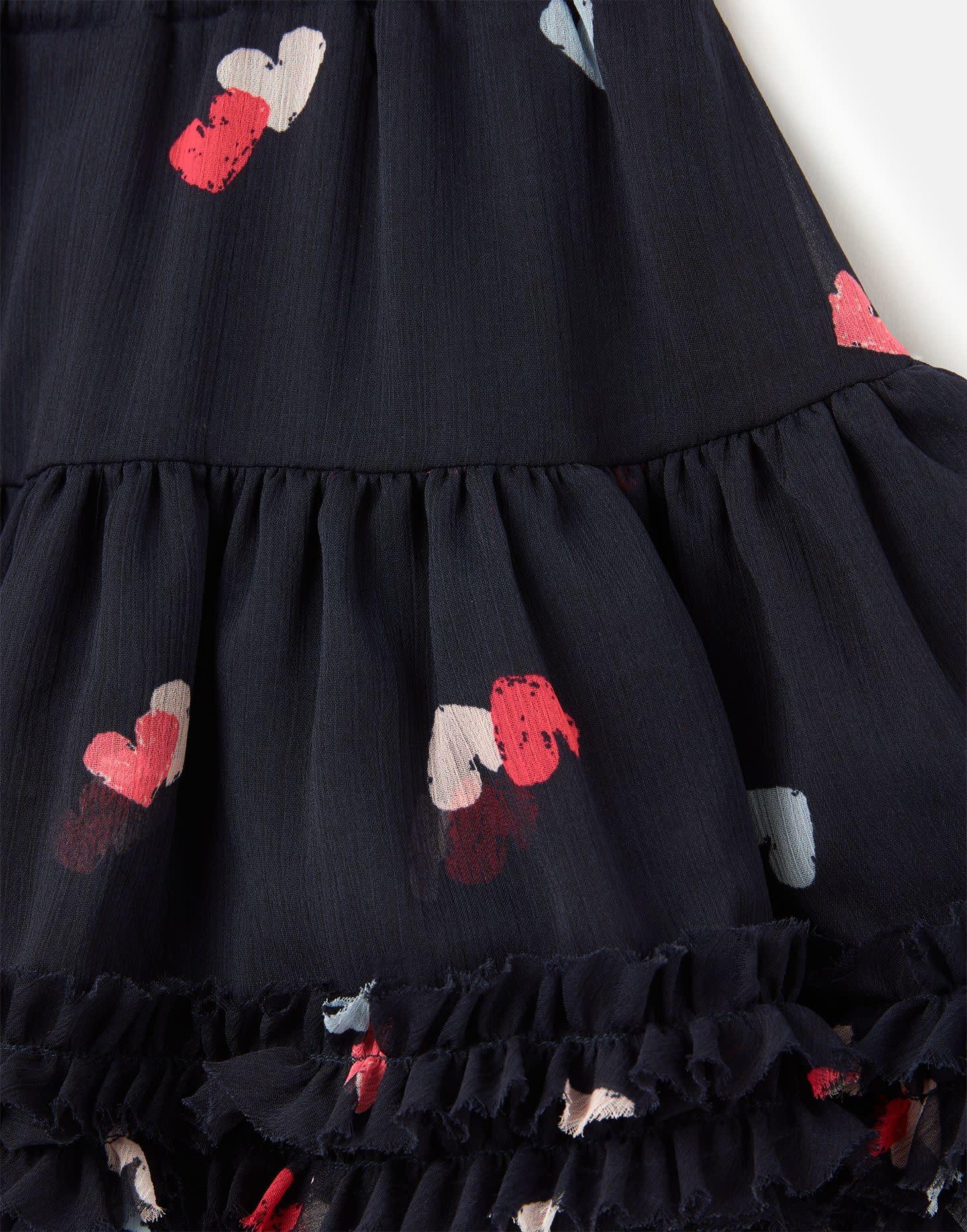 Joules Lillian Skirt Navy Multi Heart