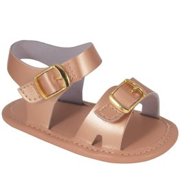 Trimfoot Co. Soft Sole Rose Gold Sandal with Buckles