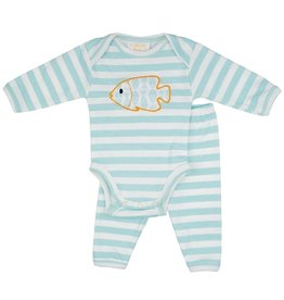 Haute Baby Gone Fishing Onesie Set