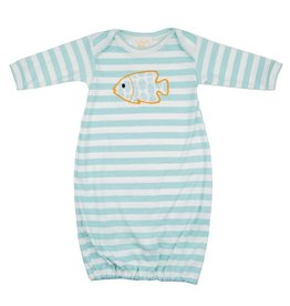 Haute Baby Gone Fishing Gown, 0/3M