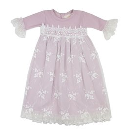Haute Baby Lilac Mist Gown, 0/3M