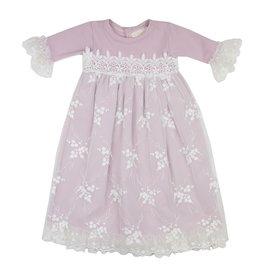 Haute Baby Lilac Mist Gown, 0/3M
