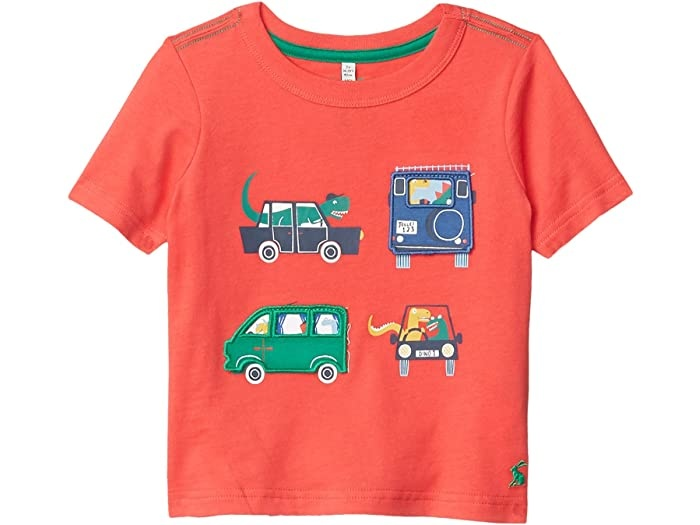 Joules Chomp Tee Red Vehicles
