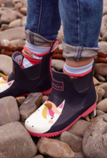 Joules Jnr Wellibob Boot Navy Unicorn