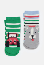 Joules Neat Feet Socks Multi Dog Tractor