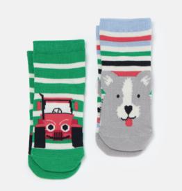 Joules Neat Feet Socks Multi Dog Tractor