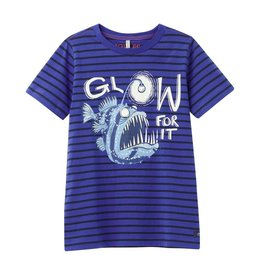 Joules Ray Tee Blue Stripe Fish