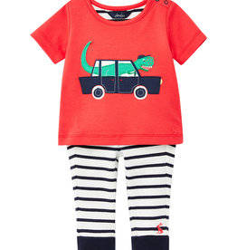 Joules Doodle Set Red Vehicles