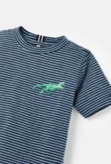 Joules Island Tee Blue Stripe Dino
