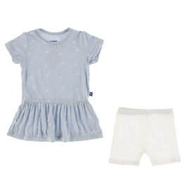 Kickee Pants SS Playtime Outfit Set Dew Dandelion Seeds