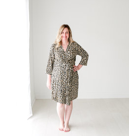 Posh Peanut Lana Leopard Robe