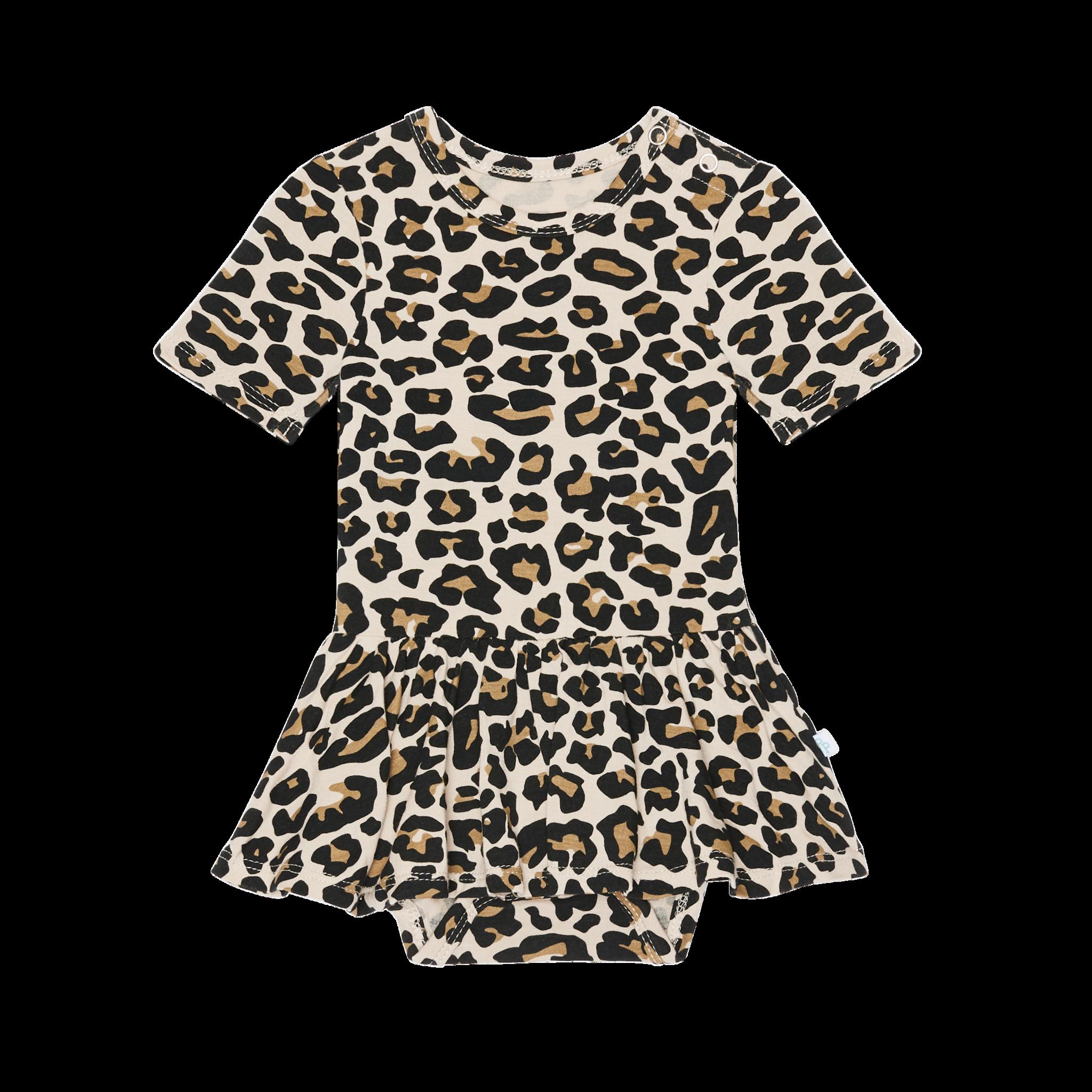 Posh Peanut Lana Leopard SS Twirl Skirt Bodysuit