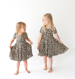 Posh Peanut Lana Leopard SS Twirl Dress