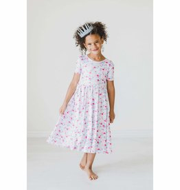 Mila & Rose Mermaid Scales SS Twirl Dress