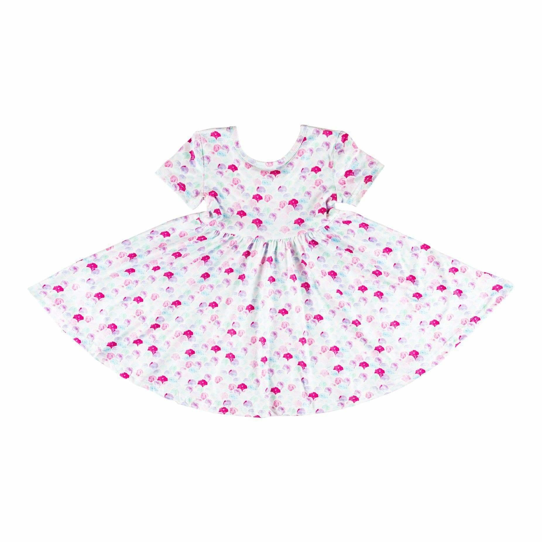 Mila & Rose Mermaid Scales SS Twirl Dress