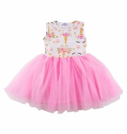 Mila & Rose Unicorn Dream Pink Tank Tutu Dress
