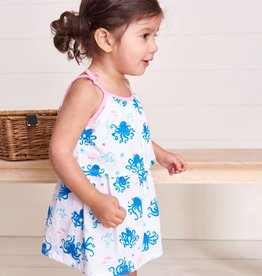 Hatley Pretty Octopuses Baby Layered Dress White