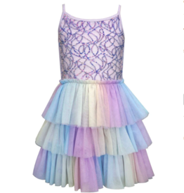 Hannah Banana/Baby Sara Mermaid Sequin Fit & Flare Ballerina Tutu Dress