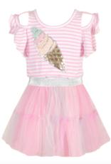 Hannah Banana/Baby Sara Sequin Ice Cream Patch Tutu Twofer Dress