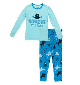 Kickee Pants LS Pajama Set Amazon Cowboy