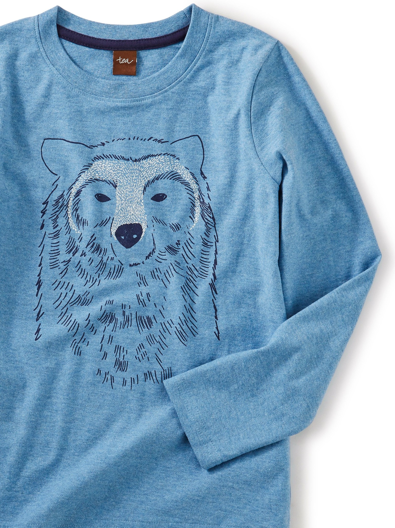Tea Collection Bear Buddy Graphic Tee Pacific