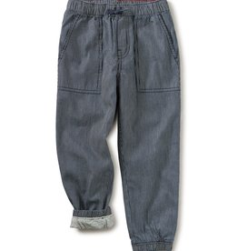 Tea Collection Railroad Lined Jogger Dark