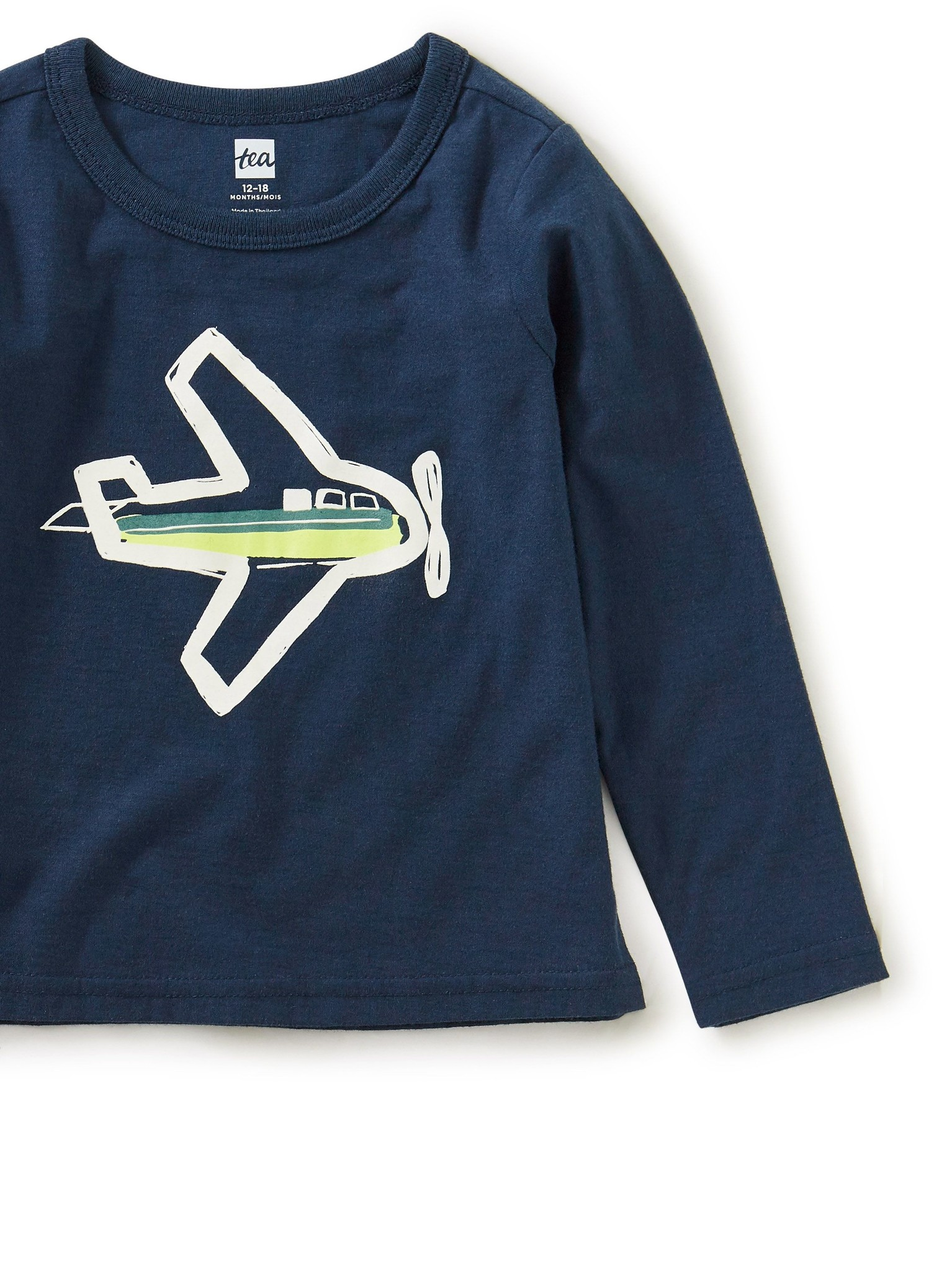 Tea Collection Take Flight Glow Graphic Tee Whale Blue