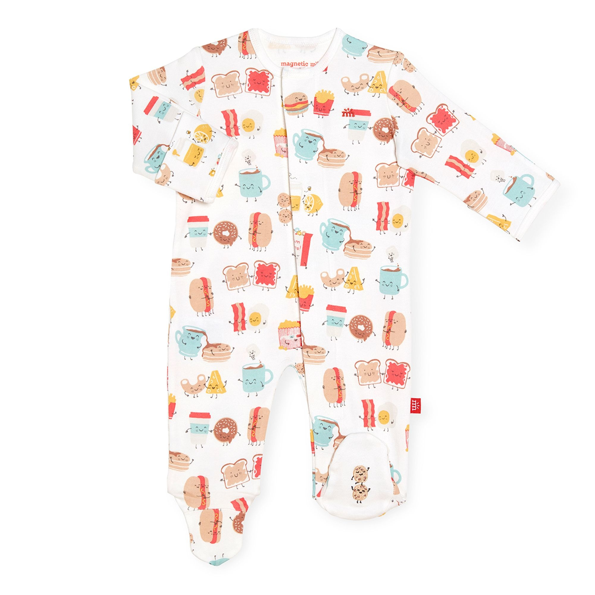 Magnificent Baby Better Together Organic Cotton Magnetic Footie