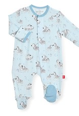 Magnificent Baby Blue Little One Magnetic Footie