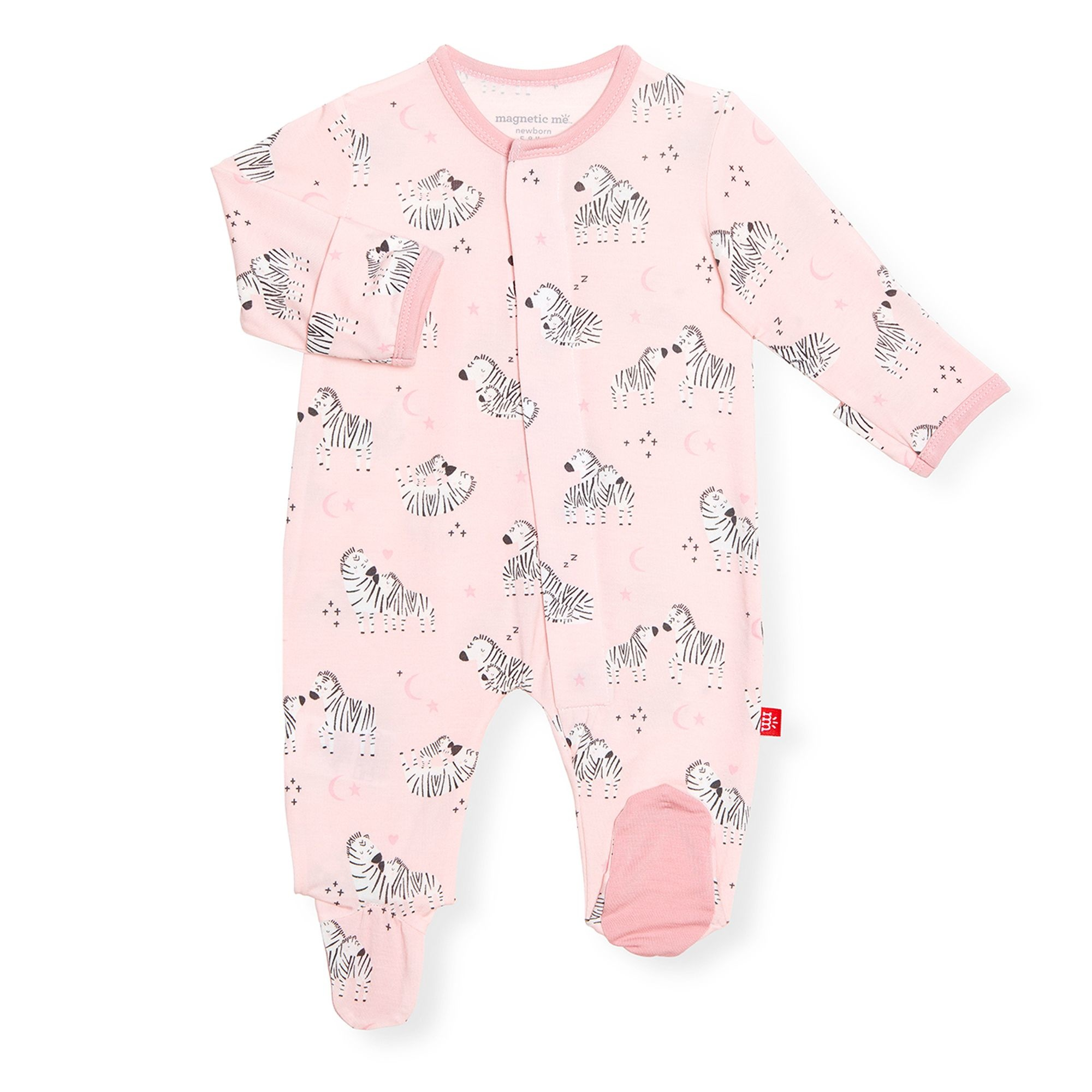 Magnificent Baby Pink Little One Magnetic Footie