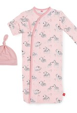 Magnificent Baby Pink Little One Modal Magnetic Gown & Hat Set NB/3M