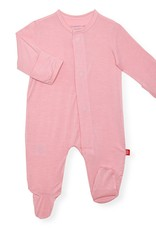 Magnificent Baby Dusty Rose Solid Modal Magnetic Footie