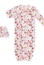 Magnificent Baby Pom Pom Organic Cotton Magnetic Gown & Hat Set NB/3M