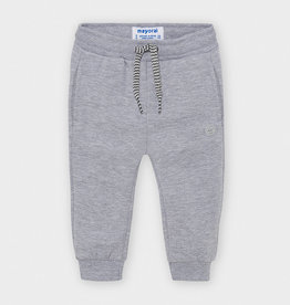Mayoral Basic Cuffed Fleece Trousers Smoke